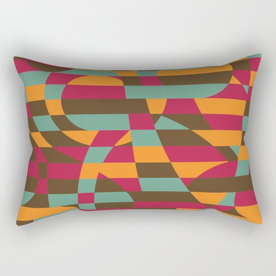 Abstract Graphic Art - Roller Coaster Rectangular Pillow