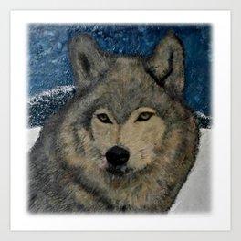 Winter Wolf Art Print