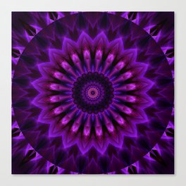 Mandala Crownchakra Canvas Print