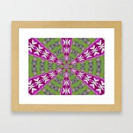 Kaleidoscope Dahlia Framed Art Print