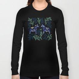 Swedish Dala Horse – Navy & Mint Palette Long Sleeve T-shirt