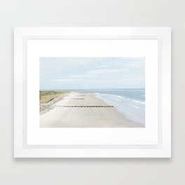 Folly Beach in Charleston, South Carolina Framed Art Print