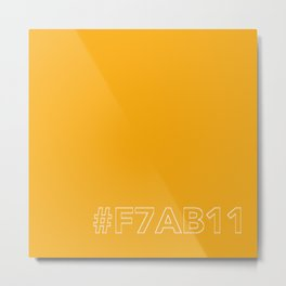 #F7AB11 [hashtag color] Metal Print