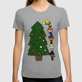 silly Christmas ninjas T-shirt
