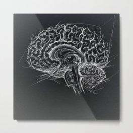 Brain Metal Print