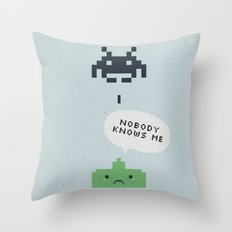nobody knows Throw Pillow