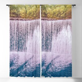 Monk's waterfall Blackout Curtain