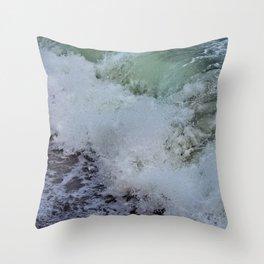 Aquamarine Waves Throw Pillow