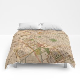 Vintage Map of San Jose California (1886) Comforters
