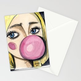 Bubble Gum Girl Stationery Cards