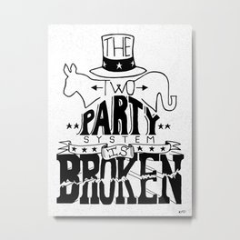 Two Party System Metal Print