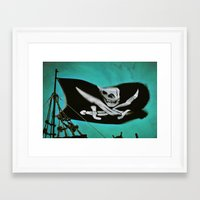 "pirate ship Framed Art Prints featuring ""Pirate Ship"" by Bella Blue Photography"