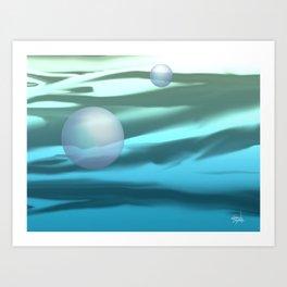 PACIFIC OCEAN AT DAWN Art Print