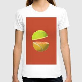 Orange tennis ball T-shirt