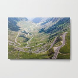 Transfagarasan Road Metal Print