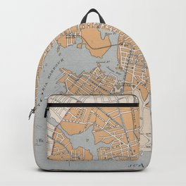 Vintage Map of Victoria British Columbia (1915) Backpack