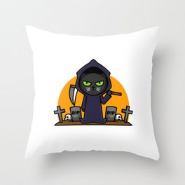 So many idiots and just a scythe Throw Pillow