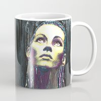 kate moss Mugs featuring kate moss by lisylight