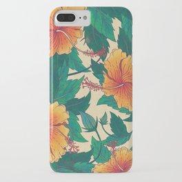 Orange Hibiscus Flowers iPhone Case