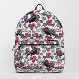 Crows, Bleeding Hearts & Roses Floral/Botanical Pattern Backpack