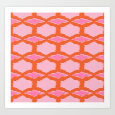 Ikat Diamond Art Print