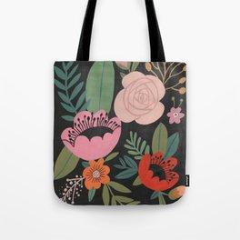 Floral Guache Tote Bag