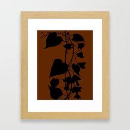 Rhodochiton in Sky Blue - Original Floral Botanical Papercut Design Framed Art Print
