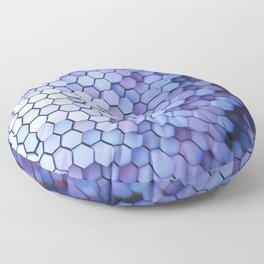 Hexagon blue pantone Floor Pillow