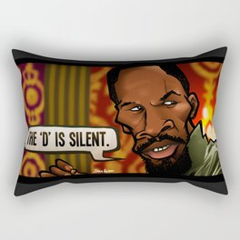 The D is Silent (Django) Rectangular Pillow