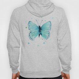 Blue Abstract Butterfly Hoody