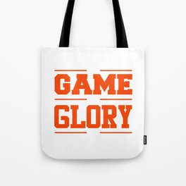 His Game My Glory Christian Sports T-shirt Tote Bag
