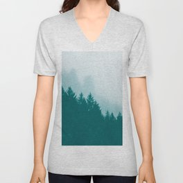 Green Mountain Fog Unisex V-Neck