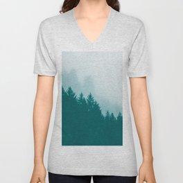 Green Mountain Fog Unisex V-Neck