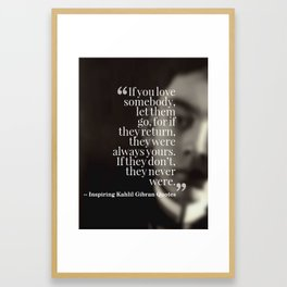 Most Inspiring Kahlil Gibran Quotes - 7 Framed Art Print