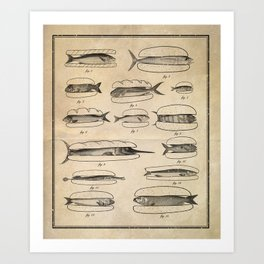 Fishers' menu Art Print