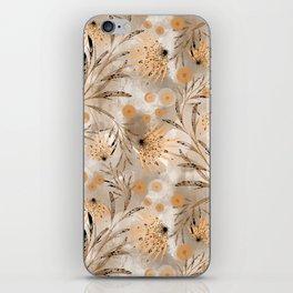 Beige floral pattern. iPhone Skin