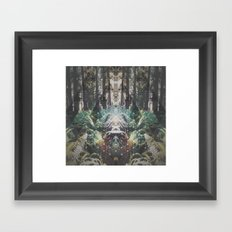 Forest Grid Framed Art Print