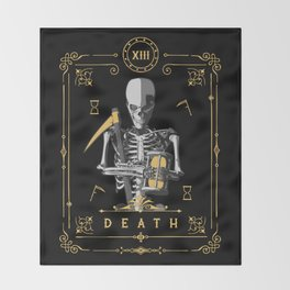 Death XIII Tarot Card Throw Blanket