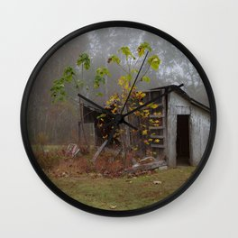 Misty Smokehouse Wall Clock