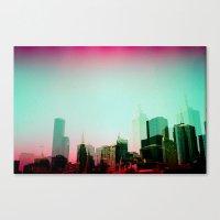 melbourne Canvas Prints featuring Melbourne by Campbell La Pun