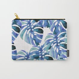 Monstera Pattern Blue Carry-All Pouch