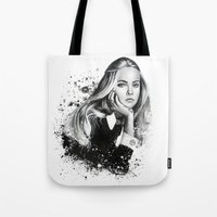 cara Tote Bags featuring Cara by NZL Illustrations