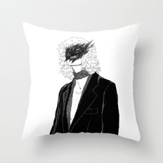 tired of myself tonight Throw Pillow