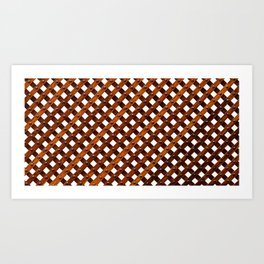 Symmetrical wooden pattern Art Print