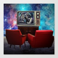 tv Canvas Prints featuring Television by Cs025