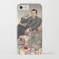 mad men iPhone & iPod Cases featuring Mad Men by David M. Buisán