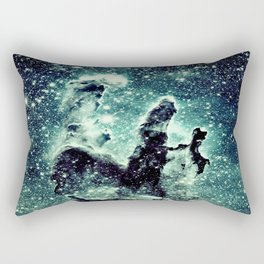 Nebula Galaxy : Teal Pillars of Creation Rectangular Pillow