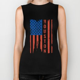 houston american patrotic t-shirts Biker Tank