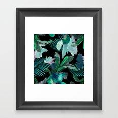 Midnight Iris / Black Framed Art Print