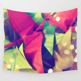 Senbazuru | pink and green Wall Tapestry